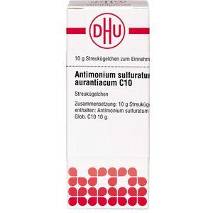 ANTIMONIUM SULFURATUM aurantiacum C 10 Globuli