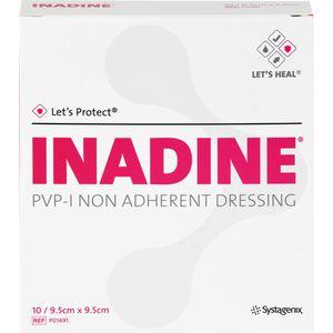 INADINE Salbengaze m. PVP Iod. 9,5x9,5cm