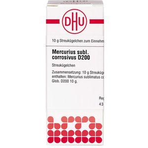 MERCURIUS SUBLIMATUS corrosivus D 200 Globuli