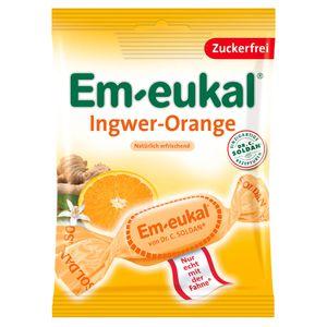 EM EUKAL Bonbons Ingwer Orange zuckerfrei