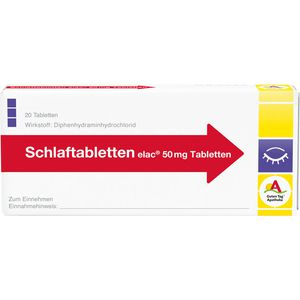 SCHLAFTABLETTEN elac 50 mg
