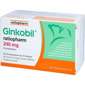 GINKOBIL-ratiopharm 240 mg Filmtabletten