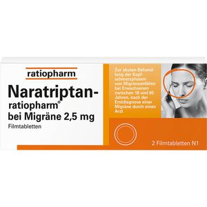 NARATRIPTAN-ratiopharm bei Migräne Filmtabletten
