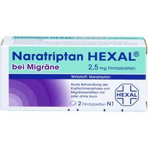 NARATRIPTAN HEXAL bei Migräne 2,5 mg Filmtabletten