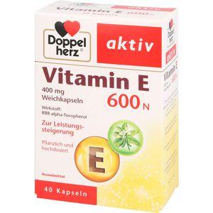 DOPPELHERZ Vitamin E 600 N Weichkapseln