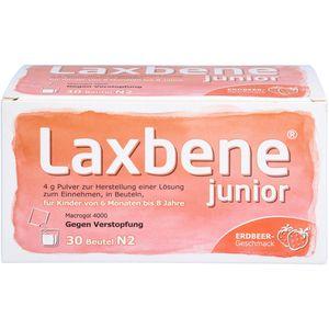 LAXBENE junior 4 g Plv.z.H.e.Lsg.z.Einn.Kdr.6M.-8J