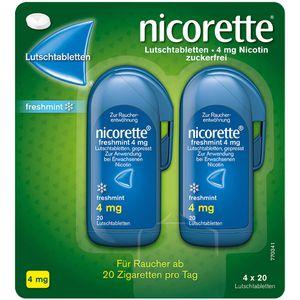 NICORETTE freshmint 4 mg Lutschtabletten gepresst