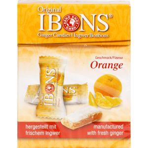 IBONS Orange Ingwerkaubonbons Orig.Schachtel