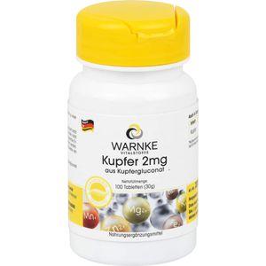 KUPFER 2 mg aus Kupfergluconat Tabletten