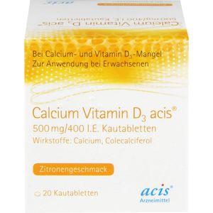 CALCIUM VITAMIN D3 acis 500 mg/400 I.E. Kautabl.