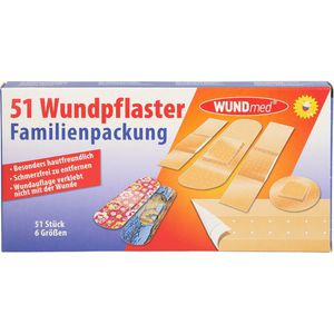 WUNDPFLASTER Familienpackung 6 Größen