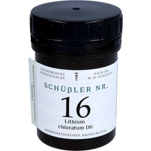 SCHÜSSLER Nr.16 Lithium chloratum D 6 Tabletten