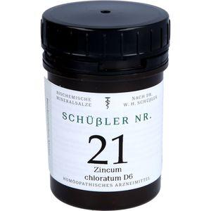 SCHÜSSLER Nr.21 Zincum chloratum D 6 Tabletten