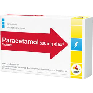 PARACETAMOL 500 mg elac Tabletten