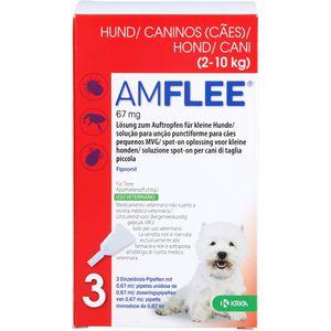 AMFLEE 67 mg Spot-on Lsg.f.kleine Hunde 2-10kg