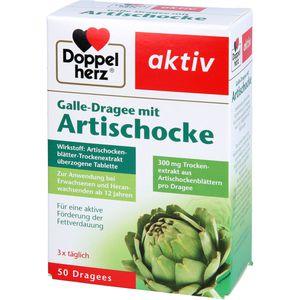 DOPPELHERZ Galle-Dragee mit Artischocke