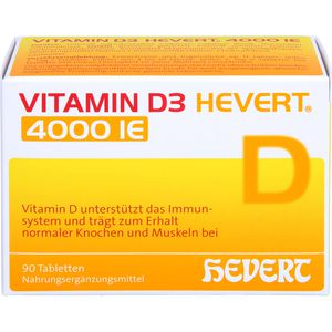 VITAMIN D3 HEVERT 4.000 I.E. Tabletten