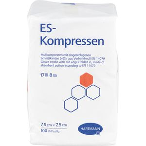 ES-KOMPRESSEN unsteril 7,5x7,5 cm 8fach CPC