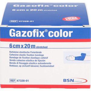 GAZOFIX color Fixierbinde kohäsiv 6 cmx20 m blau