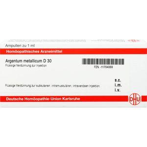 ARGENTUM METALLICUM D 30 Ampullen