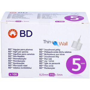 BD THIN Wall Pen-Nadeln 0,25x5 mm