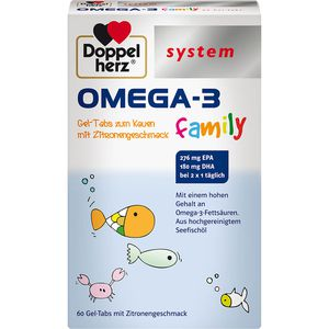 DOPPELHERZ Omega-3 family system Gel-Tabs