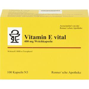 VITAMIN E vital 400 mg Rennersche Apotheke Weichk.