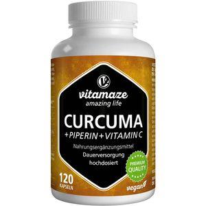 CURCUMA+PIPERIN+Vitamin C vegan Kapseln
