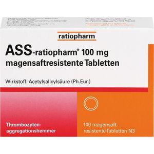 ASS-ratiopharm 100 mg magensaftres.Tabletten