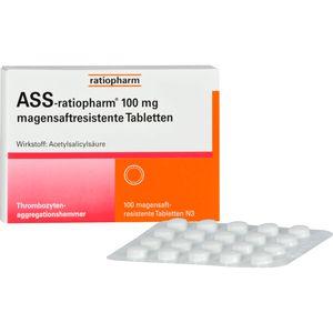 ASS ratiopharm 100 mg magensaftres.Tabletten