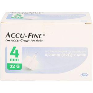 ACCU FINE sterile Nadeln f.Insulinpens 4 mm 32 G