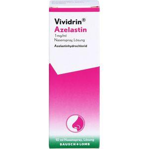 VIVIDRIN Azelastin 1 mg/ml Nasenspray Lösung