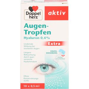 DOPPELHERZ Augen-Tropfen Hyaluron 0,4% Extra