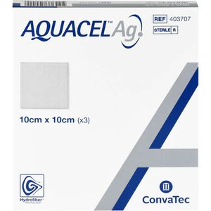 AQUACEL Ag 10x10 cm Kompressen