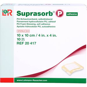 SUPRASORB P PU-Schaumv.selbstklebend 10x10 cm