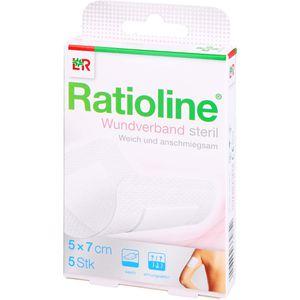 RATIOLINE Wundverband 7x5 cm steril
