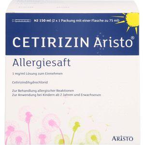 CETIRIZIN Aristo Allergiesaft 1 mg/ml Lsg.z.Einn.