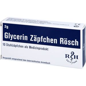 GLYCERIN ZÄPFCHEN Rösch 2 g gegen Verstopfung