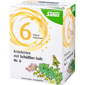 KRÄUTERTEE mit Schüssler-Salz Nr.6 Salus Fbtl.