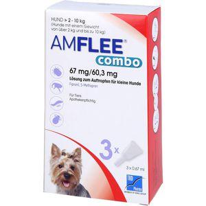 AMFLEE combo 67/60,3mg Lsg.z.Auftr.f.Hunde 2-10kg