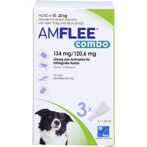 AMFLEE combo 134/120,6mg Lsg.z.Auf.f.Hunde 10-20kg