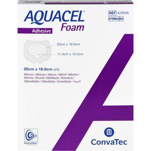 AQUACEL Foam adhäsiv Sakral 16,9x20 cm Verband