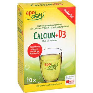 APODAY Calcium+D3 Zitrone-Limette zuckerfrei Pulv.
