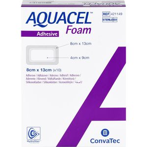 AQUACEL Foam adhäsiv 8x13 cm Verband