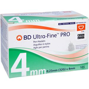 BD ULTRA-FINE PRO Pen-Nadeln 4 mm 32 G