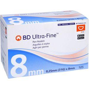 BD ULTRA-FINE Pen-Nadeln 8 mm 31 G
