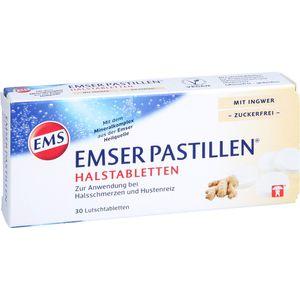 EMSER Pastillen Halstabletten m.Ingwer zuckerfrei