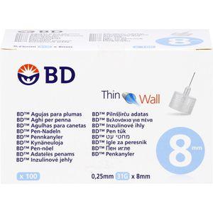 BD THIN Wall Pen-Nadeln 0,25 31 Gx8 mm