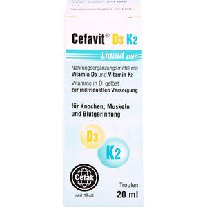 CEFAVIT D3 K2 Liquid pur Tropfen zum Einnehmen