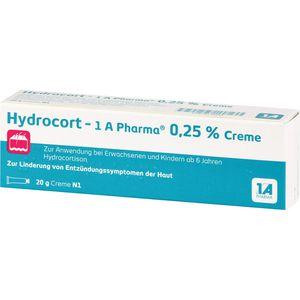 HYDROCORT-1A Pharma 0,25% Creme